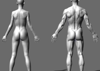 Male and female backs